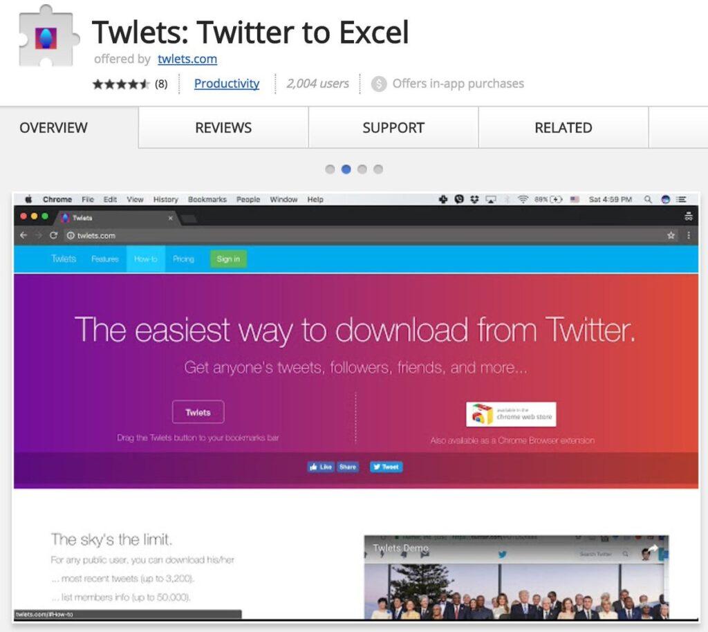 Twlets Google Chrome Extension - Vip-Tweet